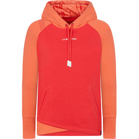 La Sportiva Stoke Sudadera Capucha Mujer, rojo/naranja